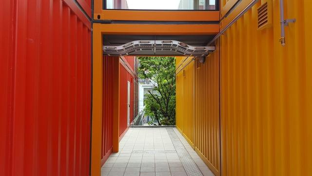 Building design primary colors, architecture buildings.