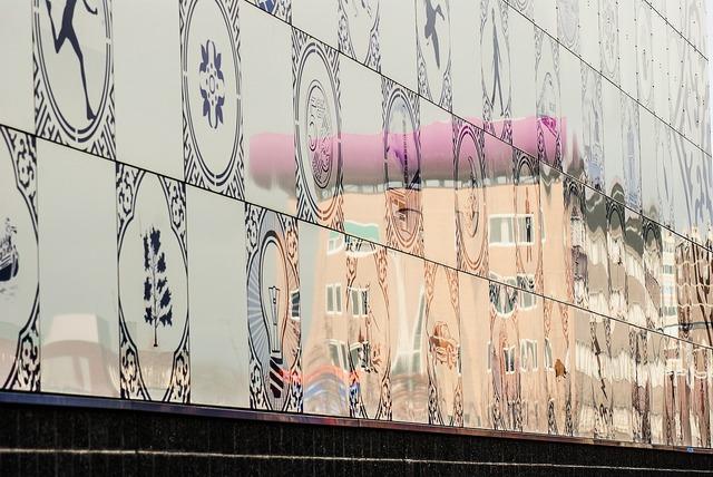 Building enschede reflection, architecture buildings.