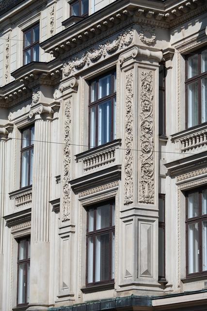 Building gray windows, architecture buildings.