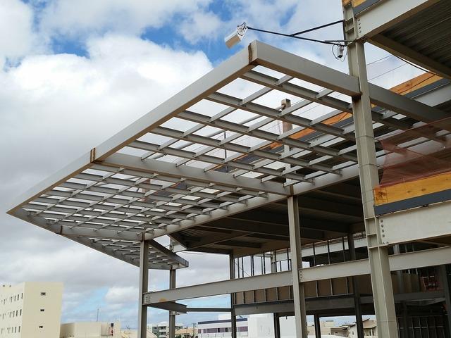 Building metal structures metallic, architecture buildings.