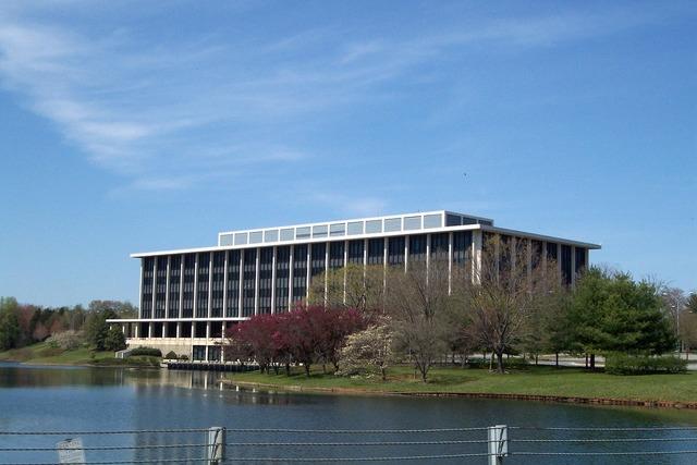 Building offices business, architecture buildings.