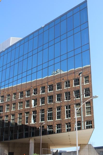 Building reflection glass, architecture buildings.