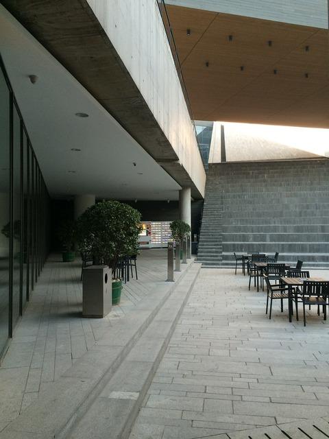 Building square smoking area, architecture buildings.