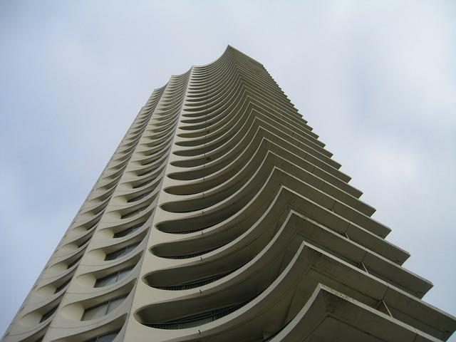 Building tower hlm, architecture buildings.