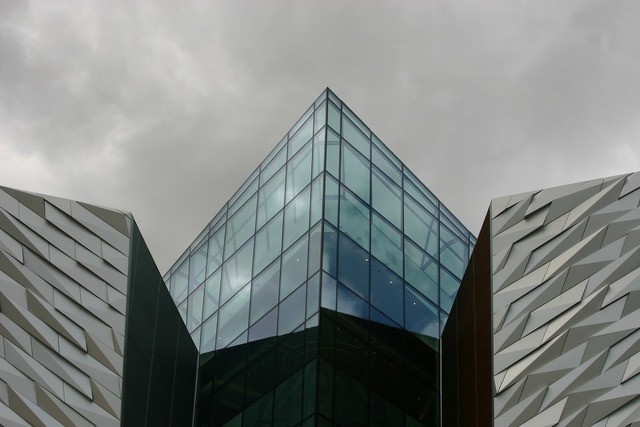 Building window glass, architecture buildings.
