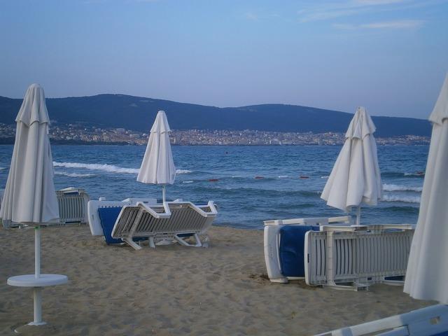 Bulgaria sea sand, travel vacation.