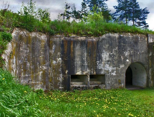 Bunker fortress defense, architecture buildings.