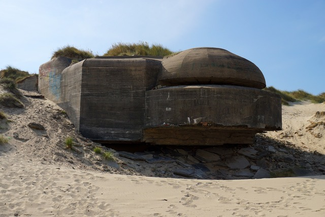 Bunker france normandy, travel vacation.