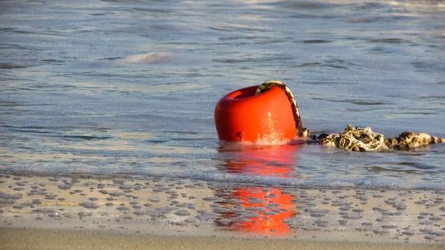 Buoy orange sea, travel vacation.