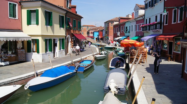 Burano channel italy.