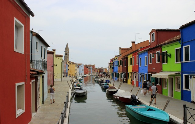 Burano italy channel.