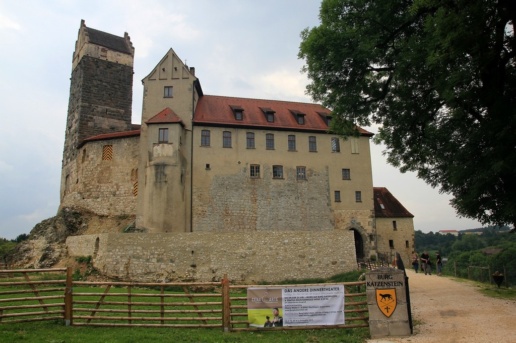 Burg katzenstein castle middle ages.