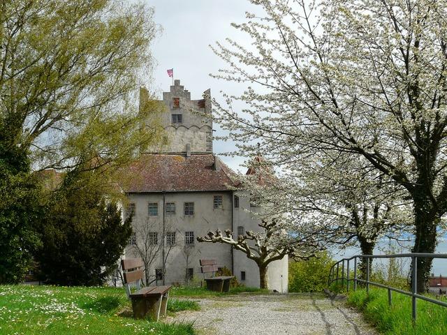 Burg meersburg old castle elder, architecture buildings.