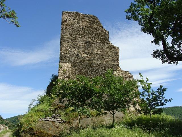 Burg stahlberg bacharach rhine valley, architecture buildings.