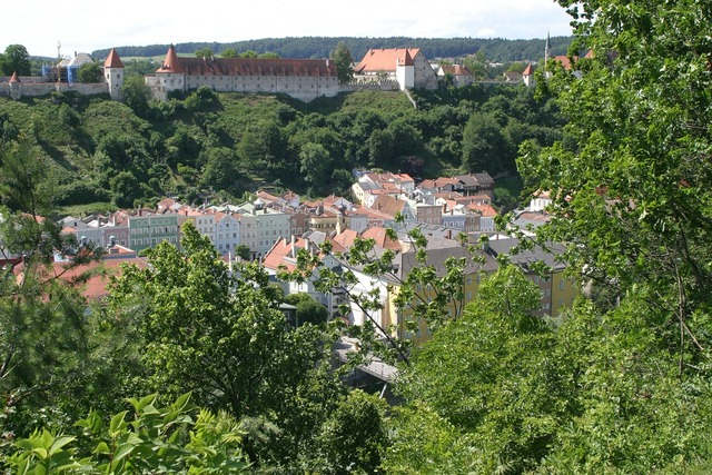Burghausen old town castle.
