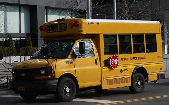 Bus school bus new york, transportation traffic.