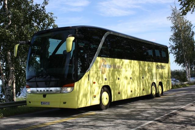 Bus yellow tour, transportation traffic.