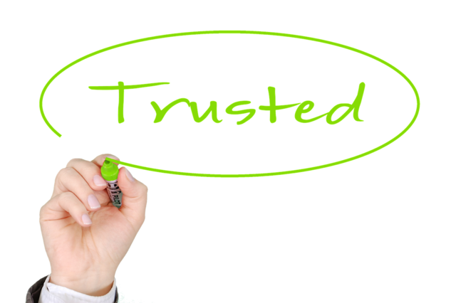 Business trusted trust, business finance.