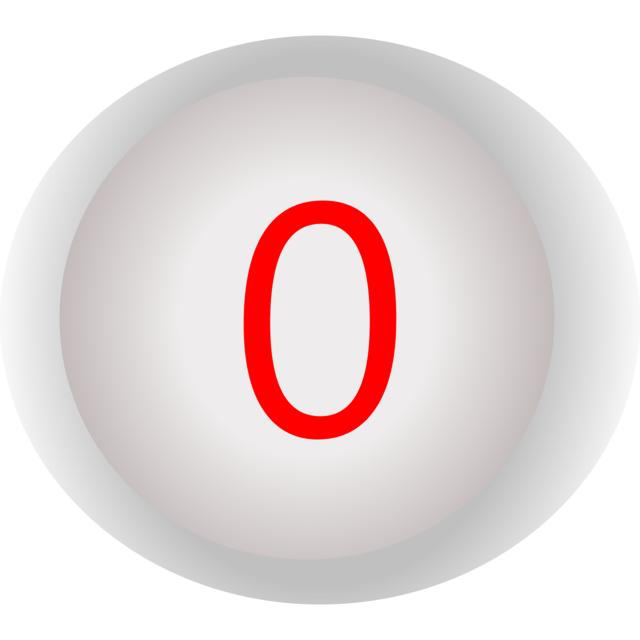 Button shut down zero.