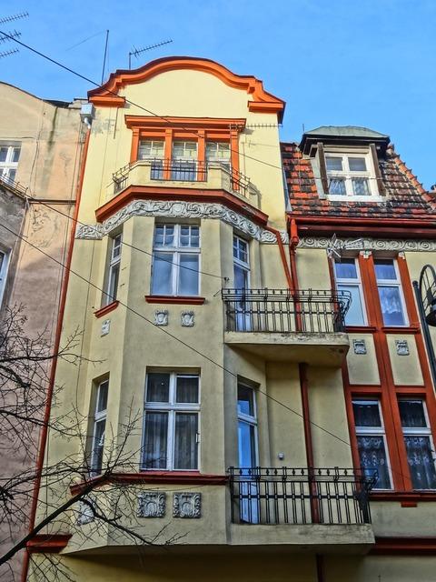 Bydgoszcz building facade, architecture buildings.
