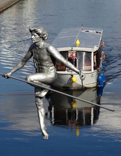 Bydgoszcz canal river.
