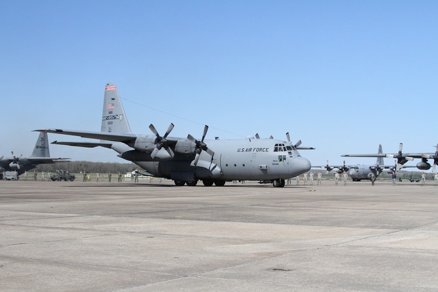 C-130 military airplane.