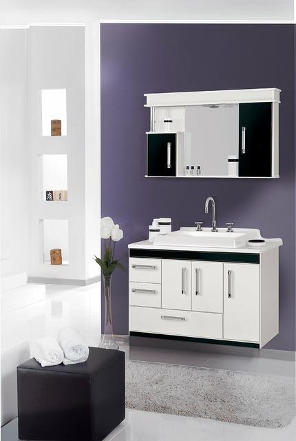 Cabinet bathroom environment.