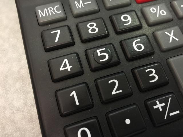 Calculator black number.