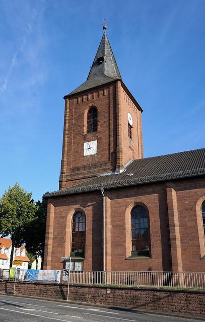 Calden church tower, religion.
