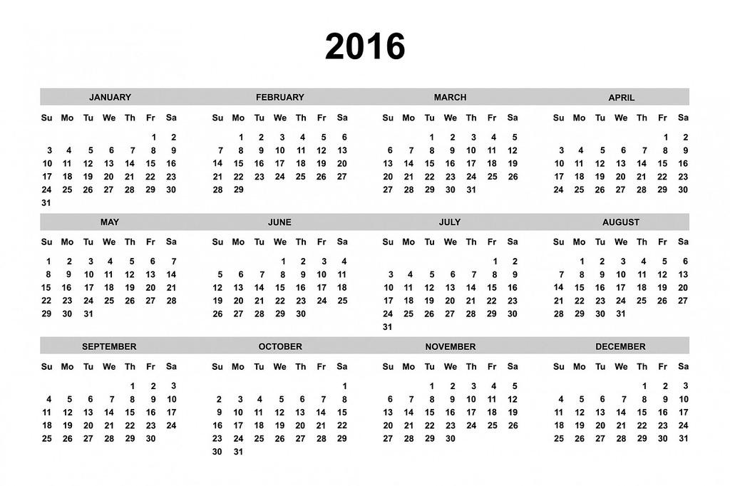 Calendar 2016 2016 calendar, business finance.
