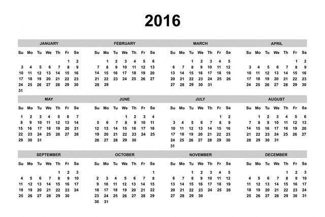 Calendar 2016 2016 calendar, business finance.