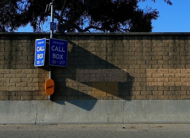 Call box freeway interstate, computer communication.