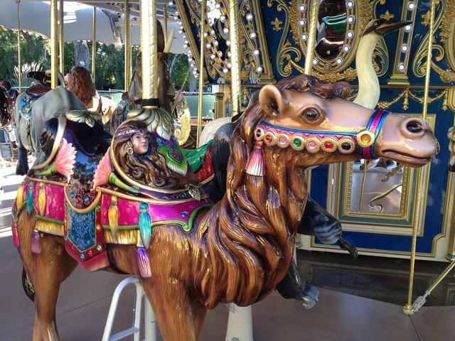 Camel carousel fair.
