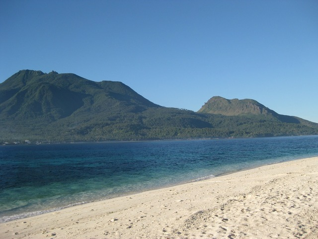 Camiguin philippines beach, travel vacation.