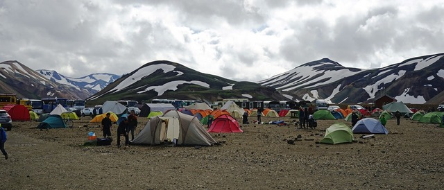 Campground iceland tents.