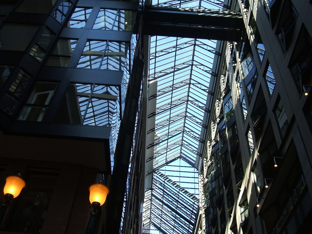Canada canopy glass, architecture buildings.