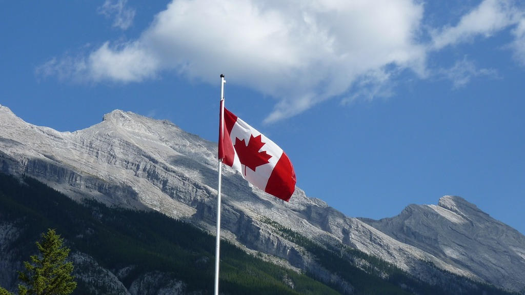 Canada national park flag.