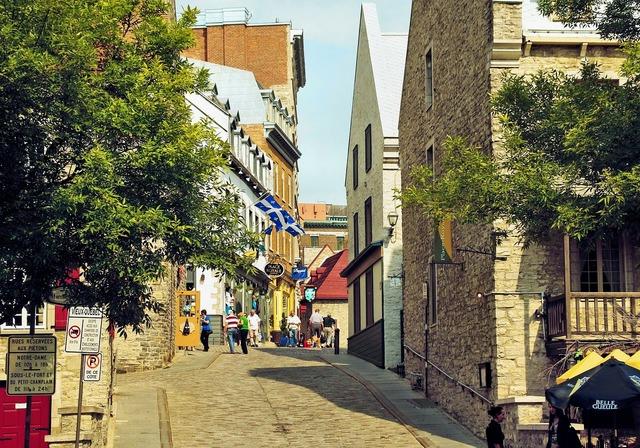 Canada quebec street, transportation traffic.