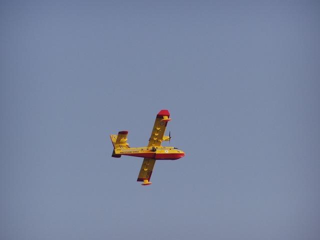Canadair plane sky.