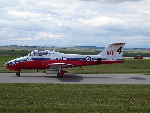 Canadian snowbirds airplane.