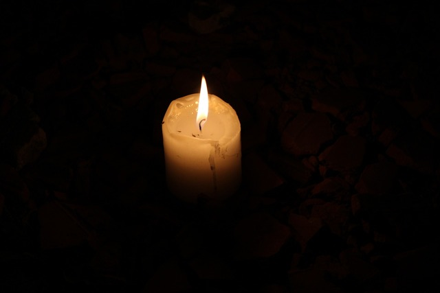 Candle dark black.