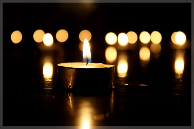 Candle darkness light.