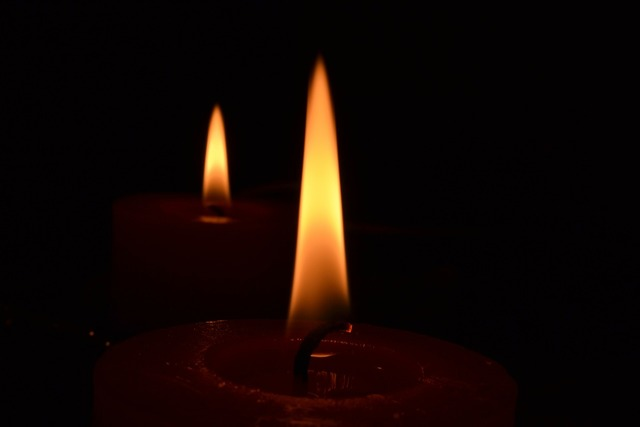 Candle flame candles.