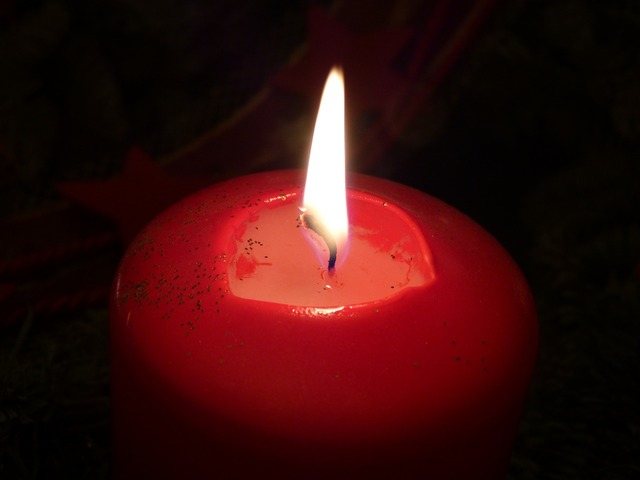 Candle flame christmas.