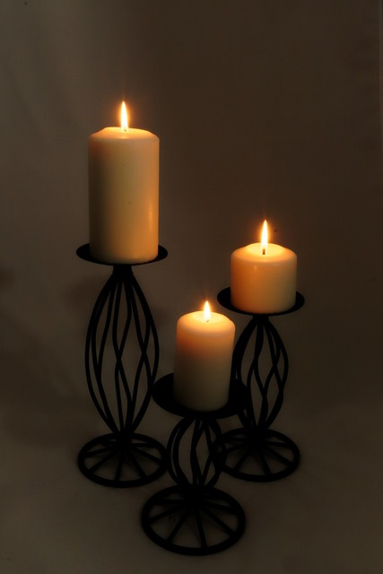 Candle flame fire.
