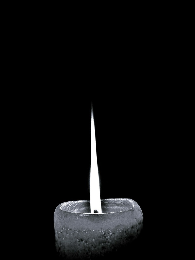 Candle flame light.