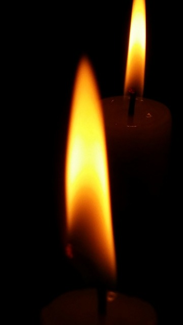 Candle flame light, emotions.