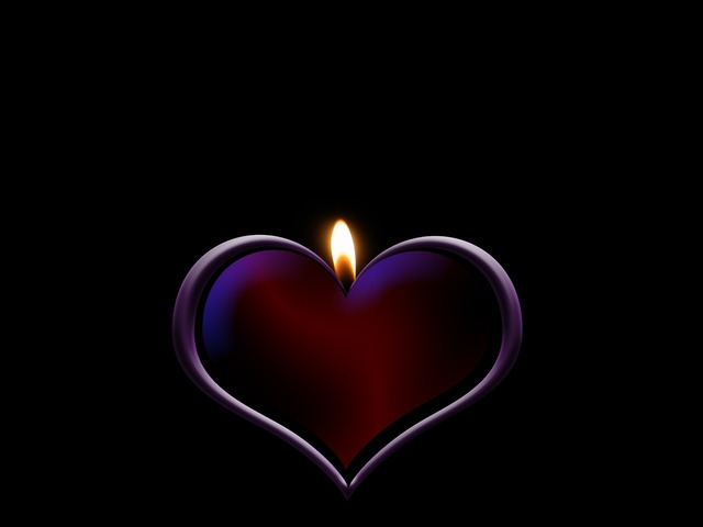 Candle heart love, emotions.
