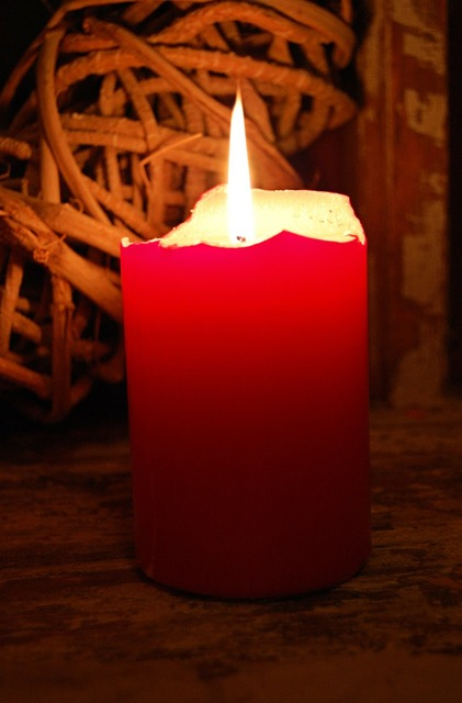 Candle light red.
