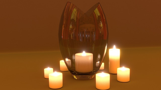 Candle light render.